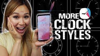 Galaxy S7, S8, S9: New Clock Designs with ClockFace!