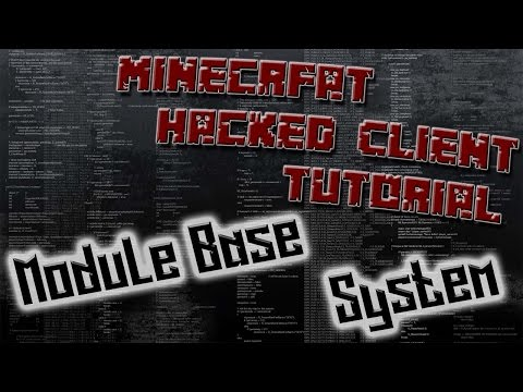 How To Code A Minecraft Hacked Client 1.8.8 #2 - The Module Base System