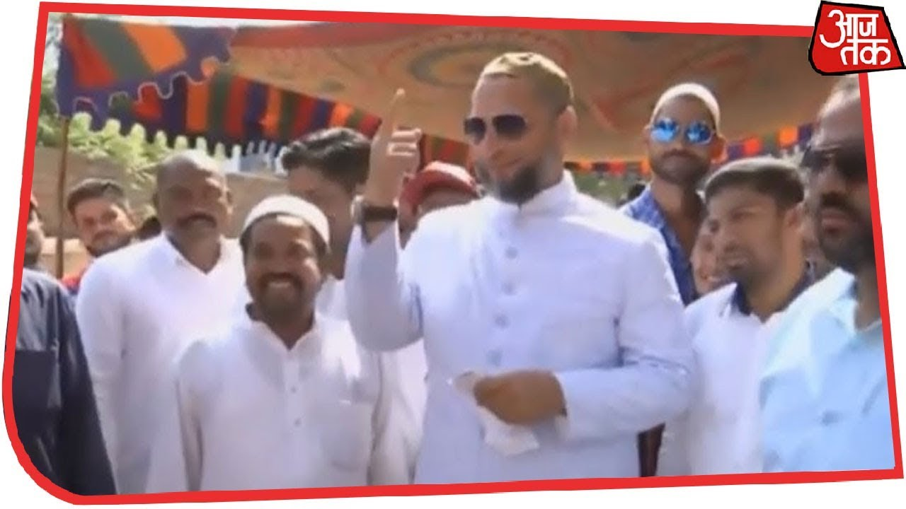 Download AIMIM Chief Asaduddin Owaisi Casts His Vote In Hyderabad | Live Updates