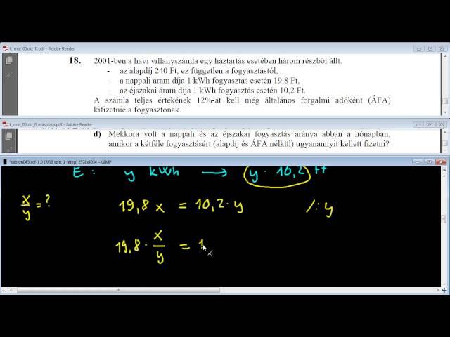 18/d Feladat - Egyenletek