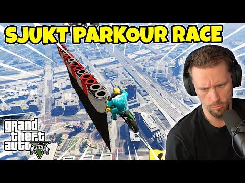 SJUKT JOBBIG MOTORCYKEL-PARKOUR I HIMLEN  GTA 5 med SoftisFFS