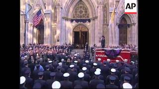 Funeral for firefighter who lost his life in WTC collapse
