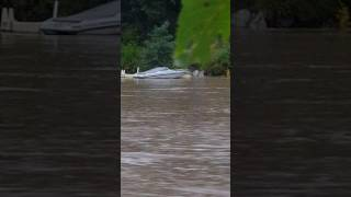 black river falls wi 9 22 2016 boat and dock going over dam