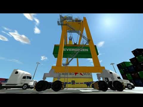 RTG Crane Simulator | Rubber-Tyred Gantry Crane Simulator | CM Labs Simulations