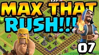 TH8 Hogs!?  MAX That RUSH ep7   Clash of Clans
