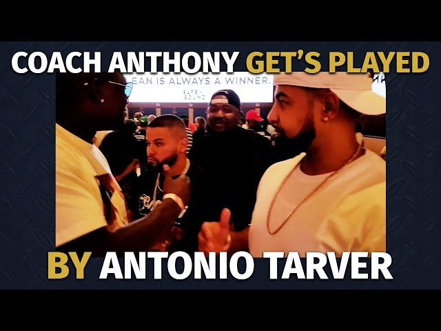 Coach Anthony Get's Played by Antonio Tarver [ Must See! ]