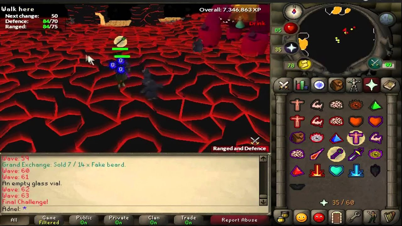 OSRS- Jad fight with blowpipe+75 range