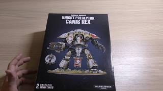 Imperial Knight - Canis Rex - Unboxing  Wh40k