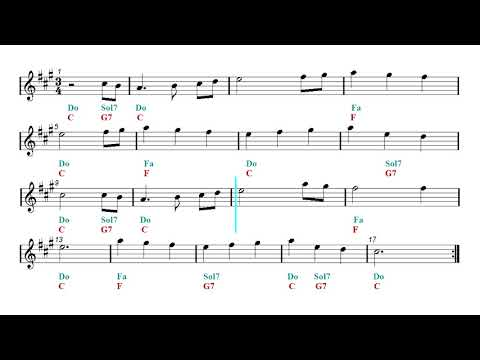 Play Along - The First Noel - Christmas song (Eb Sheet music - Guitar chords)