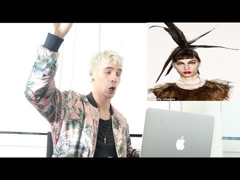 HAIRDRESSER REACTS TO CRAZY FASHION WEEK 2017 HAIR TRENDS! | bradmondo