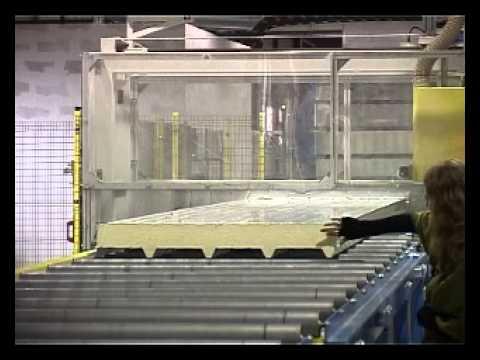 Линия производства сэндвич-панелей. Доставка из Китая - YouTube