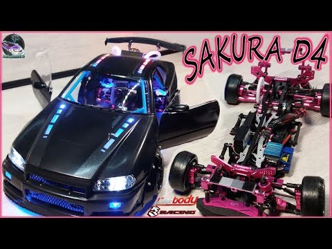 Sakura D4 -&- Killerbody - ★ RC Modified ★ Skyline Time Space ★ D4 Tuning Drift Chassis