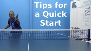 Best Warm Up for a Fast Start | Table Tennis | PingSkills