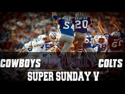 Super Sunday | Super Bowl V | Baltimore Colts vs Dallas Cowboys
