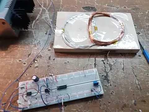 Metal detector vlf DD phase meter