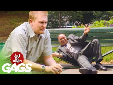 Fat Man Breaks Park Bench!