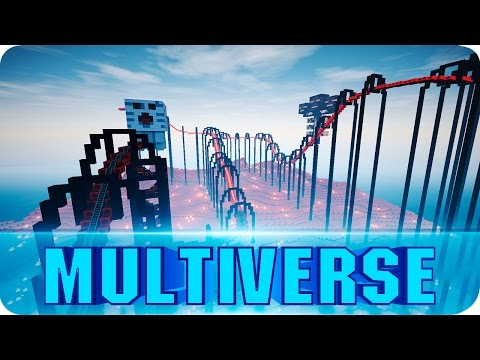 Minecraft - Multiverse Roller Coaster - Epic Over 11 Minutes Long Ride - Map w/ Download