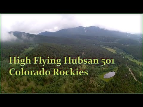Hubsan 501 flys high to view fog rolling over Black Hawk Peak.