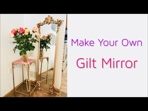 Make Your Own DIY Gilt Mirror A Tutorial