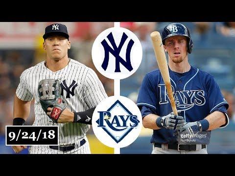 New York Yankees vs Tampa Bay Rays Highlights || September 24, 2018