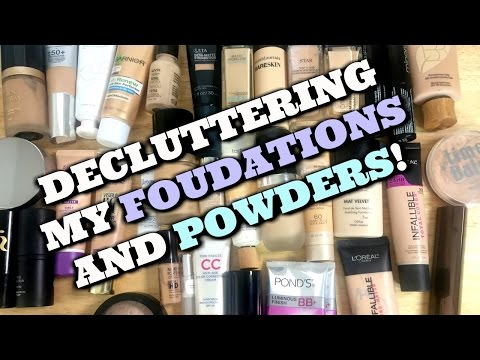 LIVE CHAT: DECLUTTERING Foundations and Powders! | Jen Luvs Reviews