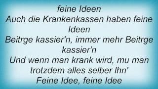 Stoppok - Feine Idee Lyrics