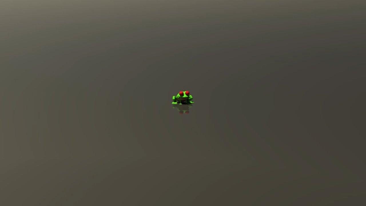 Jumping Frog animation - YouTube