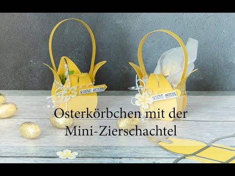 Osterkörbchen mit der Mini-Zierschachtel von Stampin' Up!