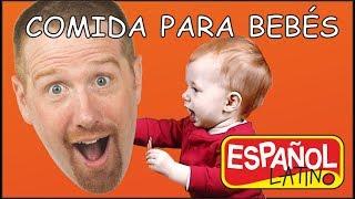 Comida Para Bebés | Cuentos para Niños | Aprender con Steve y Maggie Español