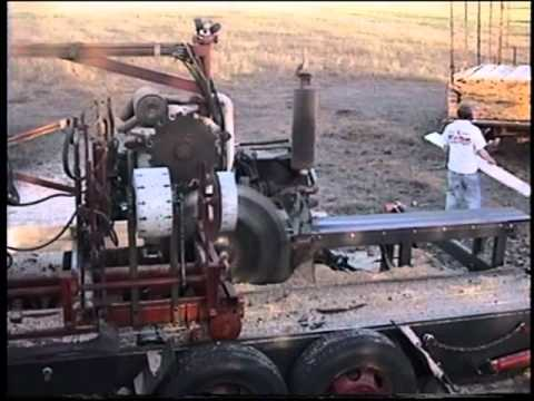 Portable Sawmill For Sale >> Romportl Circular Sawmill demo Spooner Wi - YouTube