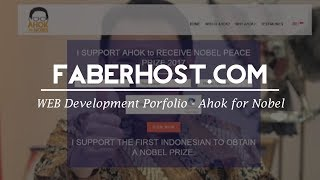 Video FaberHost.com - Web Development Portfolio - Ahok for Nobel download MP3, 3GP, MP4, WEBM, AVI, FLV Januari 2018