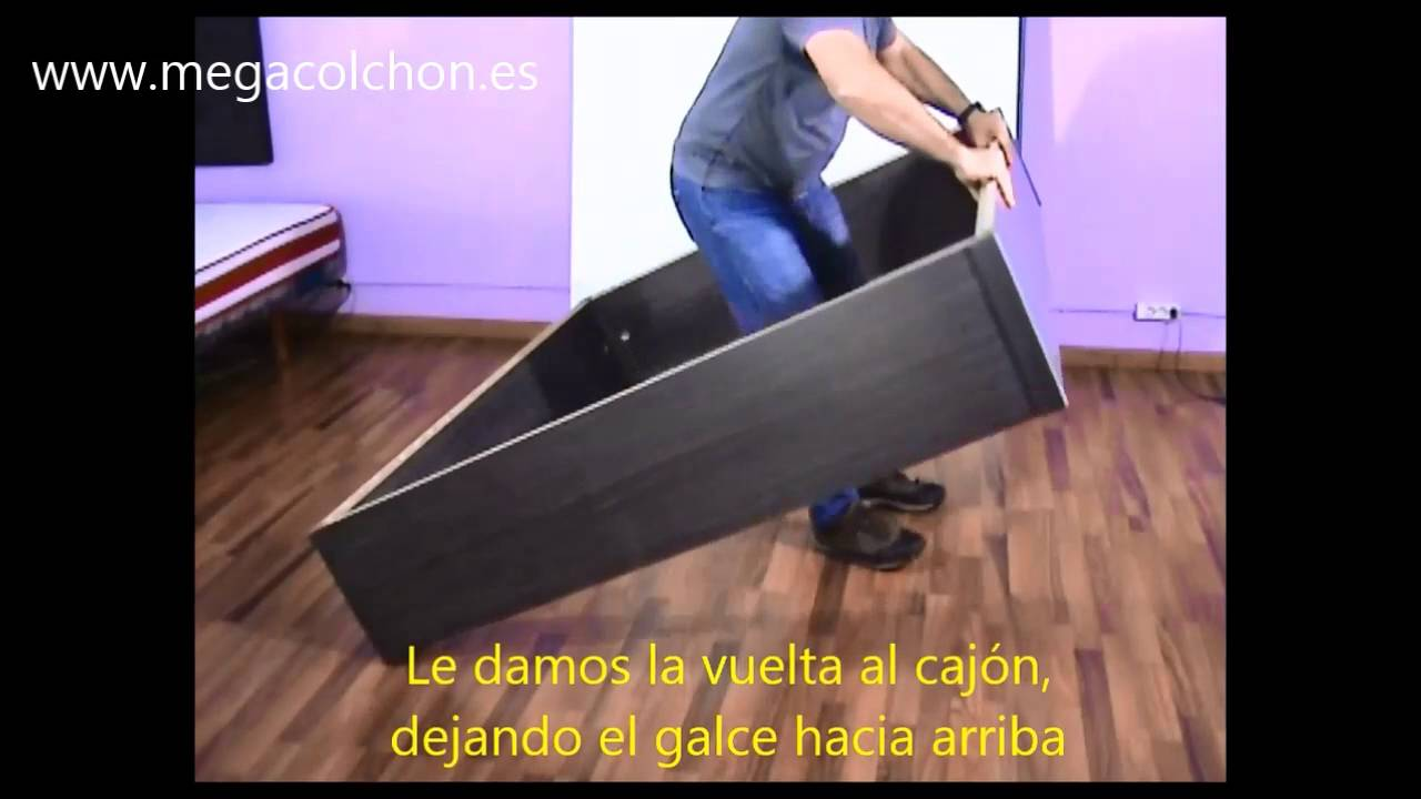 Como montar canapé abatible madera costado 4 capacidad 31 - YouTube