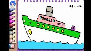 #đồchơitrẻem #dochoitreem bé tô màu chiếc thuyền