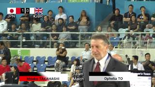 17th World Kendo Championships Women's TEAM MATCH 2ch Japan vs Great Britain