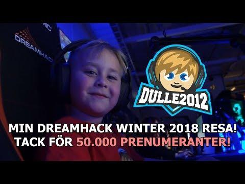 FICK 50.000 SUBS NÄR JAG VAR LIVE FRÅN DH!🎉 Följ med på min DreamHack Winter 2018 resa!😃