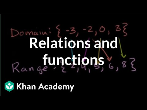 Relations and functions | Functions and their graphs | Algebra II | Khan Academy