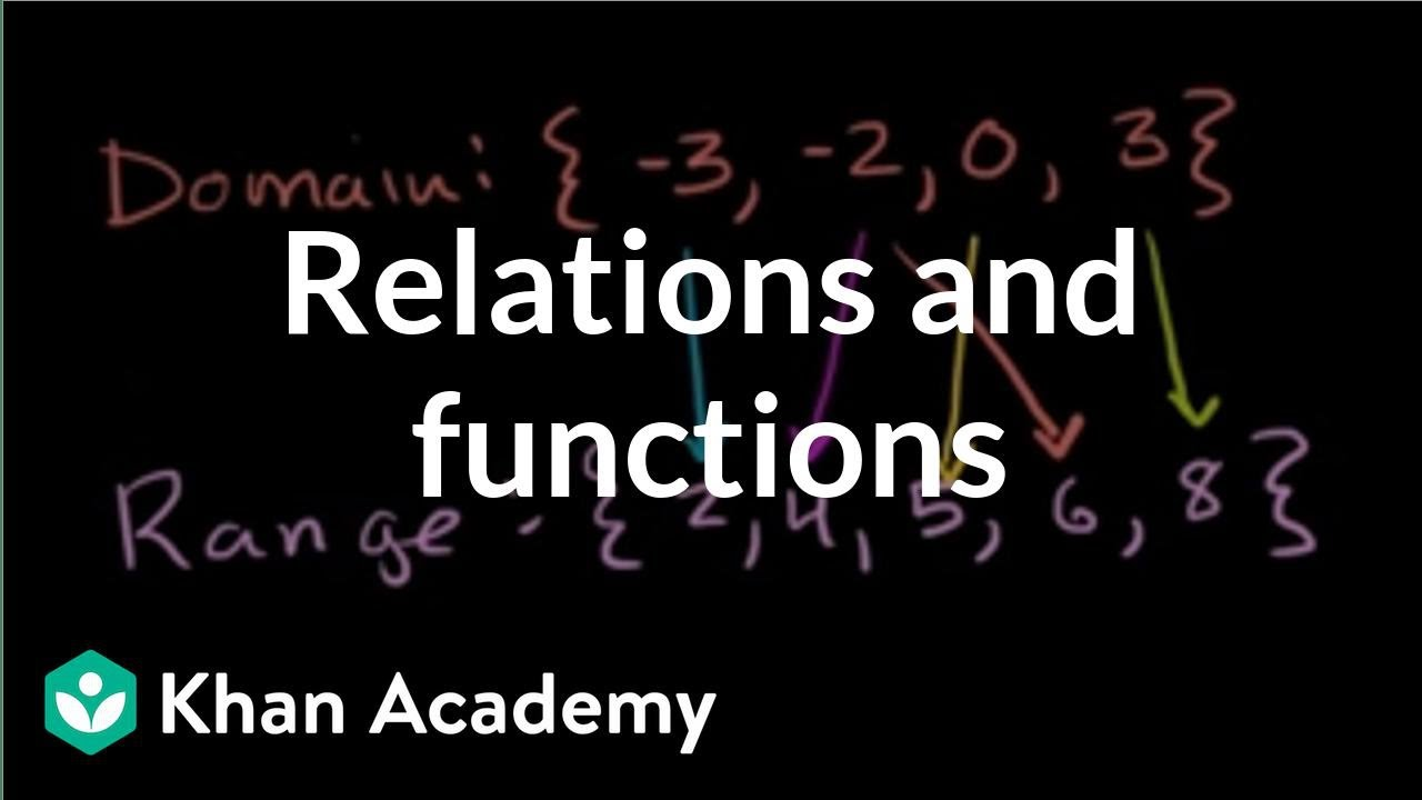 Relations and functions (video)   Khan Academy [ 720 x 1280 Pixel ]