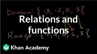 Relations and functions  Functions and their graphs  Algebra II  Khan Academy