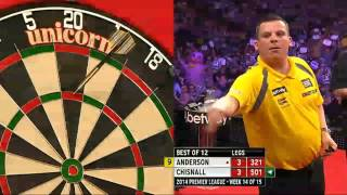 Betway Premier League Darts 2014 Week Week 14 Gary Anderson v Dave Chisnall