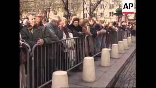 France - Memorial service for Mastroianni