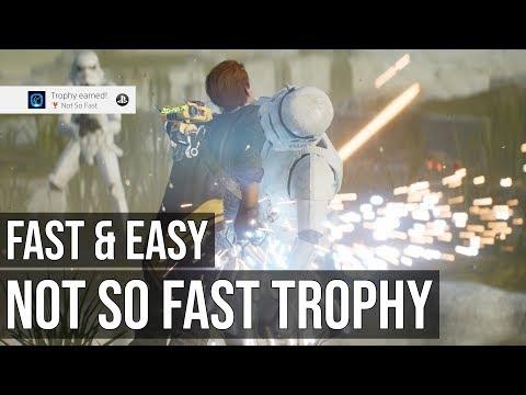 Not So Fast Trophy (Defeat 25 Enemies Under Empowered Slow) - Star Wars Jedi Fallen Order