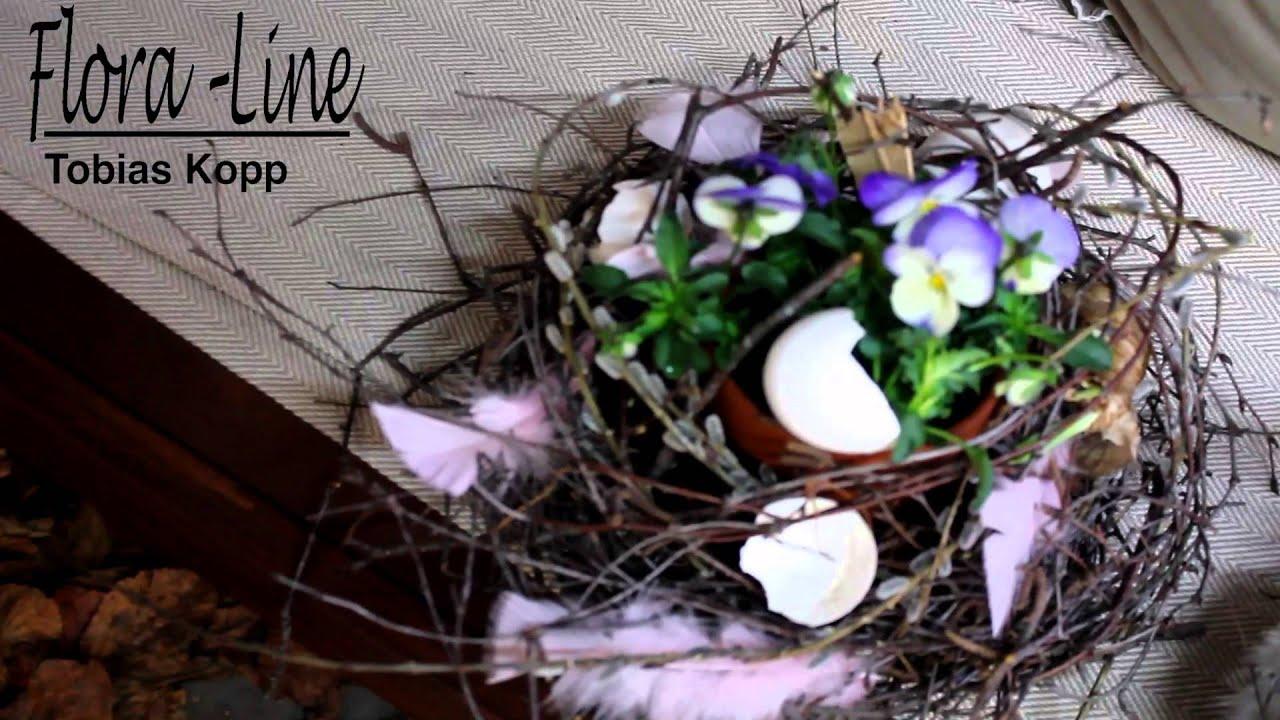 Deko Flora Line florale osternester osterfloristik 2014