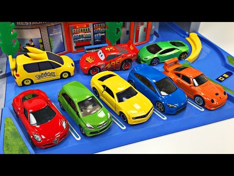 Thumbnail: Best Toddler Learning Colors Hot Wheels Cars Trucks for Kids #1 Teaching Colours Tomica Highway Set