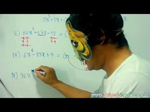 แยกตัวประกอบ 16 พื้นฐานการแยกตัวประกอบพหุนามดีกรีสอง ตัวแปรเดียว ( Polynomial , Quadratic Factoring)