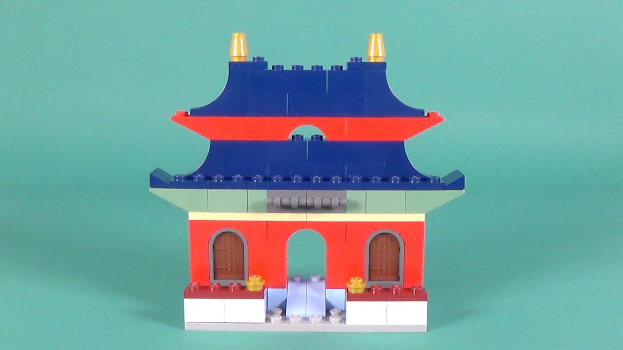 Lego oriental house building instructions lego classic for Lego classic house instructions
