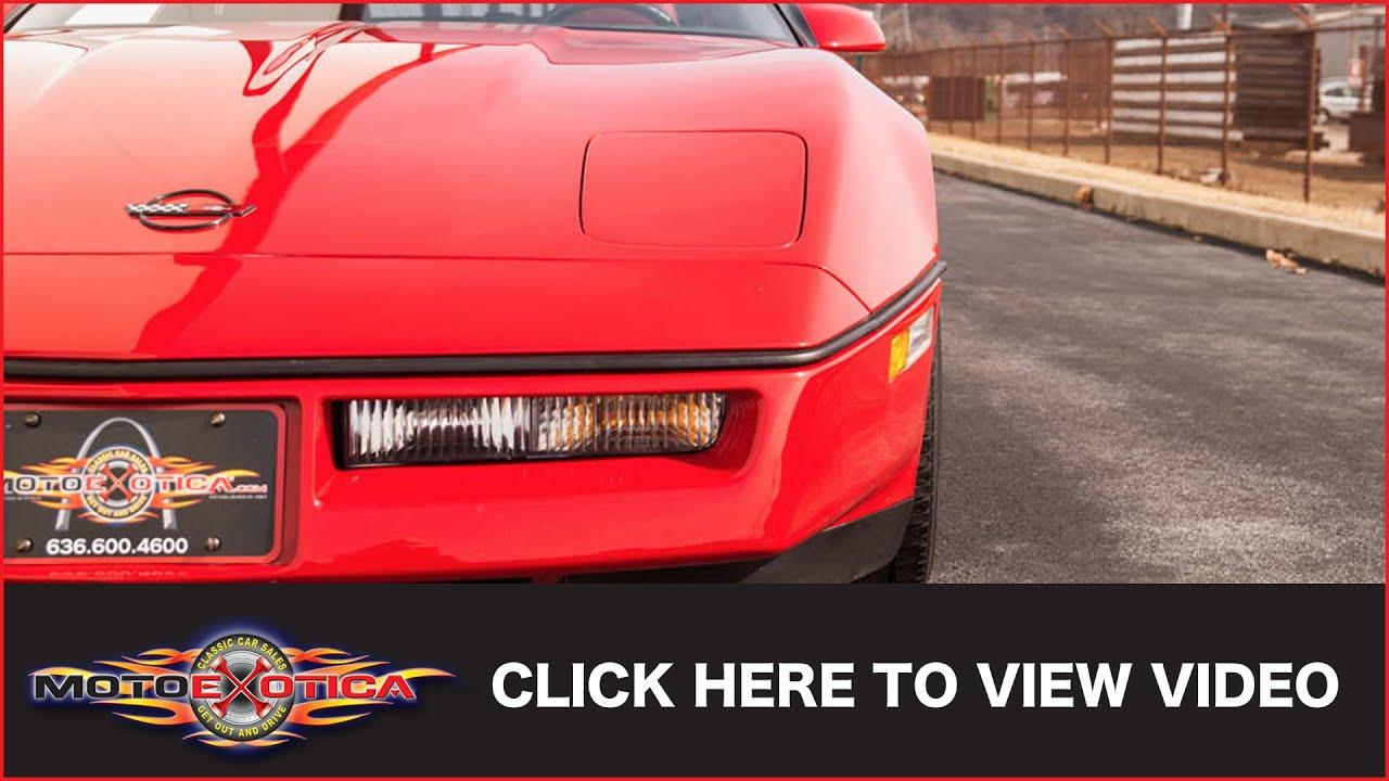 1987 Chevrolet Corvette (SOLD)