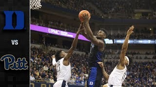 Duke vs. Pittsburgh Basketball Highlights (2018-19)