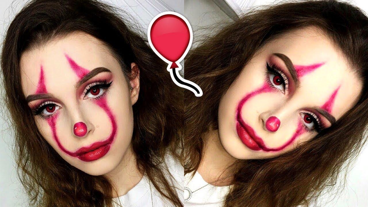 Halloween Makeup Easy Clown.Easy It Pennywise Clown Halloween Makeup Tutorial