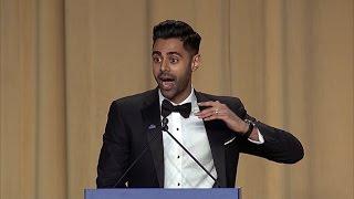 Comedian Hasan Minhaj roasts Trump at White House dinner