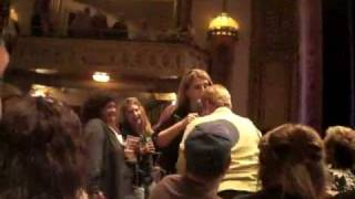 "Lisa Lampanelli in Reading, PA: Guy yelling ""Get off the stage!"" + Lisa talking with sign ladies"